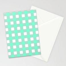 Gingham (Aquamarine/White) Stationery Cards