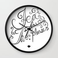 tea for two, please Wall Clock