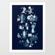 A Shared Flat For Wizard… Art Print