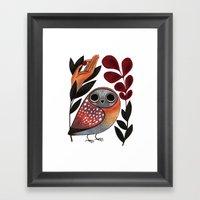 Ground Owl Framed Art Print