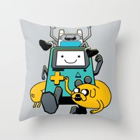 Portable Time! Throw Pillow