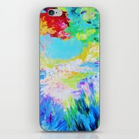 IN DREAMS - Gorgeous Bold Colors, Abstract Acrylic Idyllic Forest Landscape Secret Garden Painting iPhone & iPod Skin