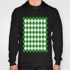 Diamonds (Forest Green/White) Hoody