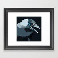 Corvus Monedula Has A St… Framed Art Print