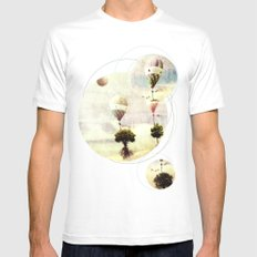 tree - air baloon SMALL Mens Fitted Tee White