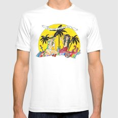 girls just wanna have sun Mens Fitted Tee SMALL White