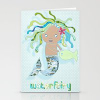 Water Fairy Mermaid Stationery Cards