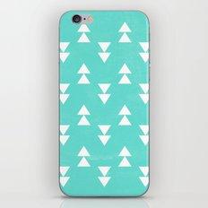 Turquoise triangle iPhone & iPod Skin