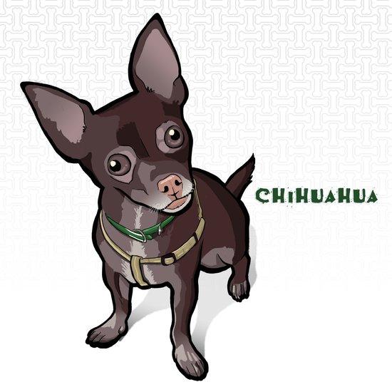 Taco T. Man (Chihuahua) Art Print