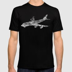Boing 747 Black Mens Fitted Tee SMALL