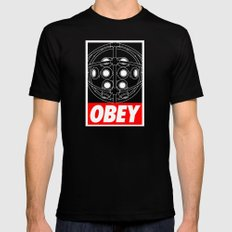 OBEY - Big Daddy SMALL Black Mens Fitted Tee