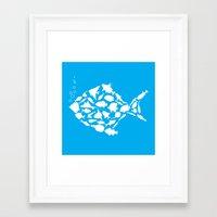 Fish are friends..... Framed Art Print