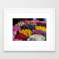 tulip heaven Framed Art Print