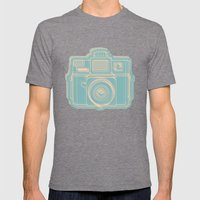 I Still Shoot Film Holga Logo - Reversed Turquoise/Tan Mens Fitted Tee Tri-Grey SMALL