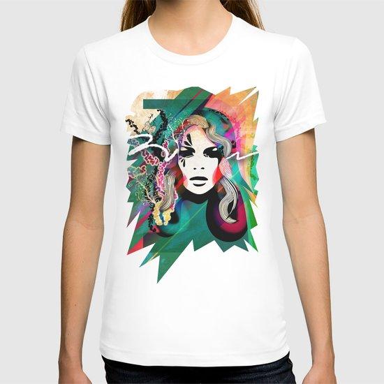 colorful hair T-shirt