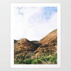 Malibu Mountains Art Print