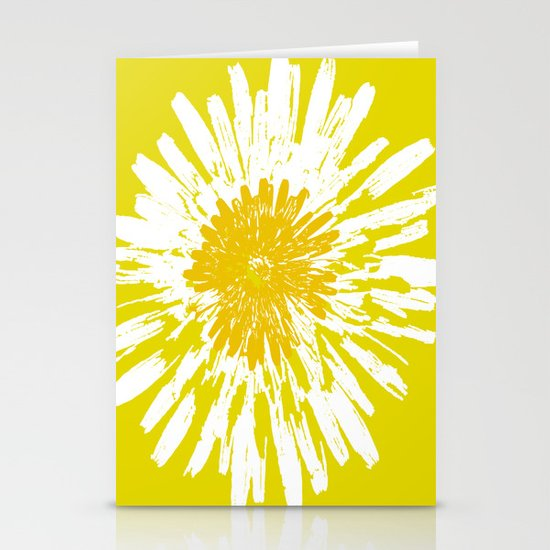 Yellow Dandelion Stationery Card