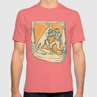 Kangaroo Boxing Man Etch… Mens Fitted Tee Pomegranate SMALL