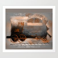 Old Train Ride Art Print