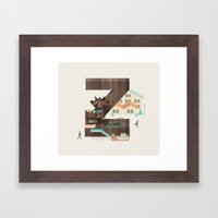 Resort type - Letter Z Framed Art Print