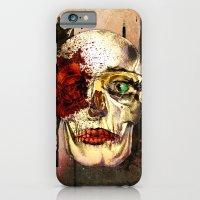 iPhone & iPod Case featuring skull3 by Duygu Kondoglu