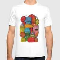 Robots Of Cornwall Mens Fitted Tee White SMALL