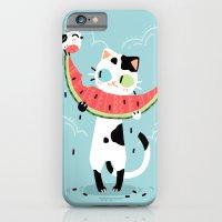 Watermelon Cat iPhone 6 Slim Case