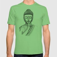 Shh... Do Not Disturb - … Mens Fitted Tee Grass SMALL