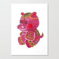 Canvas Print featuring Baby Hippo by Haidishabrina