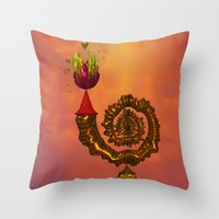 The Wizard's Table Throw Pillow