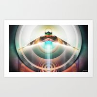 ∆  conscious flight Art Print