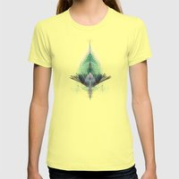 The Feathered Tribe Abst… Womens Fitted Tee Lemon SMALL