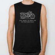 Triumph - Just Want To R… Biker Tank