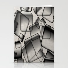 Square Bubbles - Abstract, geometry pattern Stationery Cards