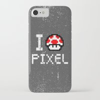 pixel iPhone & iPod Cases featuring Pixel by eARTh