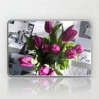 Purple Tulips Laptop & iPad Skin