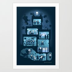It is a silly place Art Print