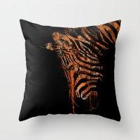 Zebra Mood Throw Pillow
