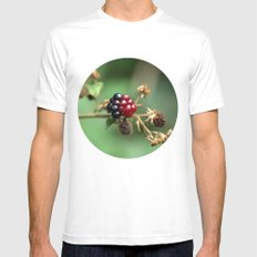 Berry Ripening SMALL Mens Fitted Tee White