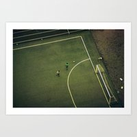 Kids Are Playing Footbal… Art Print