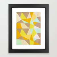 Geometric Warm Framed Art Print