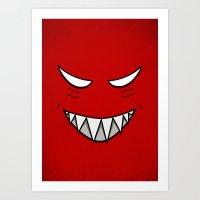 Evil Grin Evil Eyes Art Print