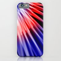 Red blue abstract iPhone 6 Slim Case