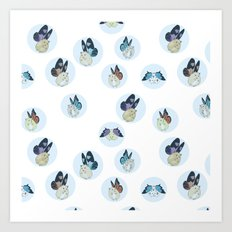 Hampster Butterflies Art Print