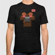 Baked Goods Mens Fitted Tee Tri-Black SMALL