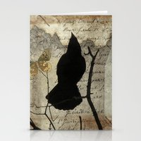 Bird And Butterflies Stationery Cards