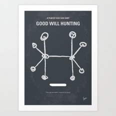 No461 My Good Will Hunting minimal movie poster Art Print