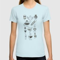 Alchemist Womens Fitted Tee Light Blue SMALL