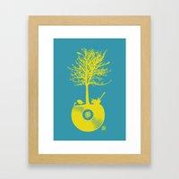 Vinyl Tree Framed Art Print