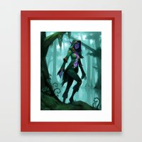 Elf Warlock, Level 1 Framed Art Print